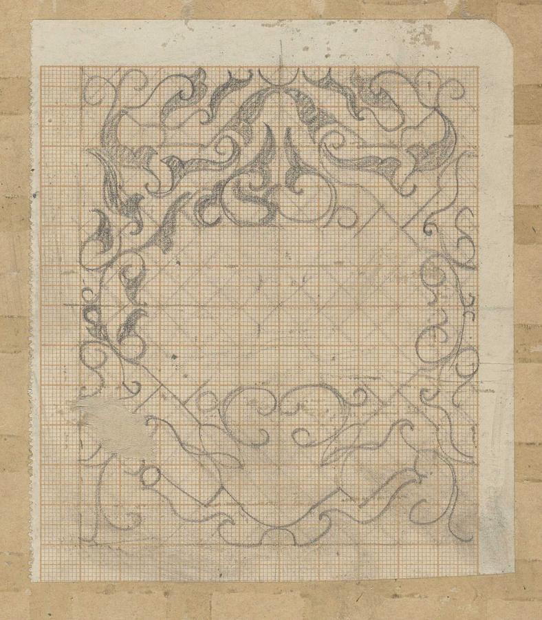 Pattern Painting - Decorative Design, Carel Adolph Lion Cachet, 1874 - 1945 Sv by Carel Adolph Lion Cachet