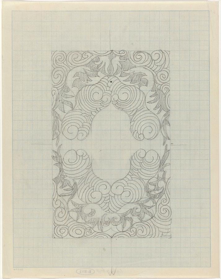 Pattern Painting - Decorative Design, Carel Adolph Lion Cachet, 1874 - 1945 Te by Carel Adolph Lion Cachet