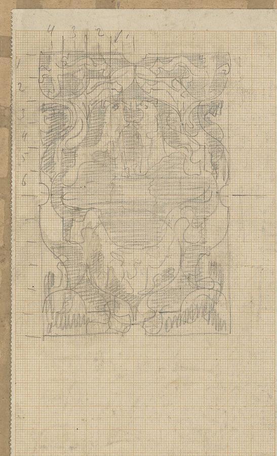 Pattern Painting - Decorative Design, Carel Adolph Lion Cachet, 1874 - 1945 U by Carel Adolph Lion Cachet