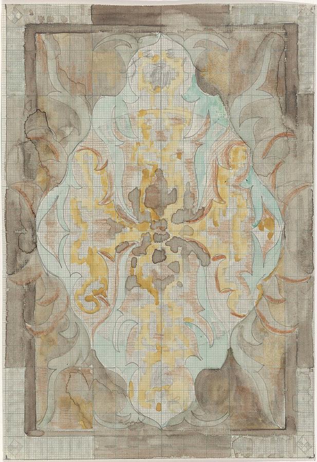 Pattern Painting - Decorative Design, Carel Adolph Lion Cachet, 1874 - 1945 Vs by Carel Adolph Lion Cachet