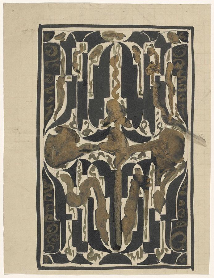 Pattern Painting - Decorative Design, Carel Adolph Lion Cachet, 1874 - 1945 Y by Carel Adolph Lion Cachet
