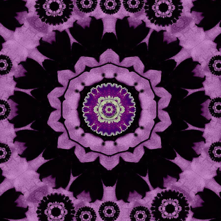 Decorative Leaf On Paper Mandala Mixed Media
