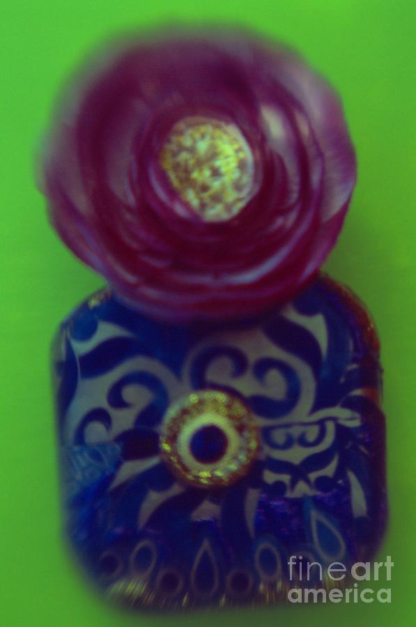 Color Photograph - Decoupaged Vase with Fabric Flower by Tamarra Tamarra