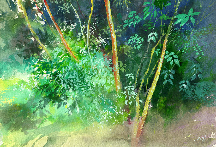 Water Color Painting - Deep by Anil Nene