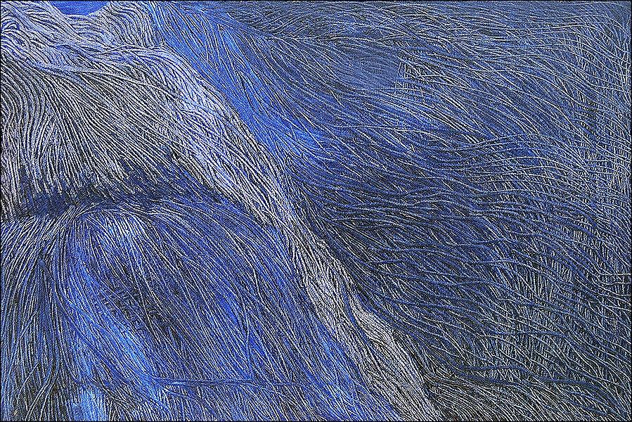 Abstract Painting - Deep Blue  by Prakash Bal Joshi