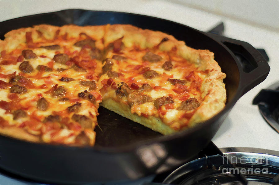 Deep Dish Pizza 004 by Andee Design