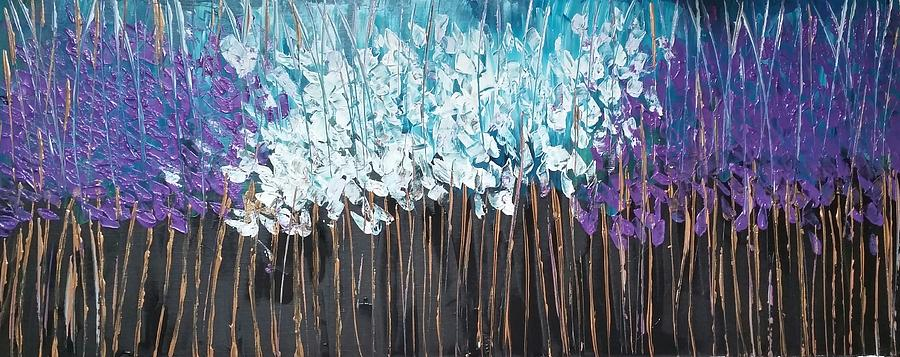 Abstract Painting - Deep Forest  by Tayyaba Hafeez