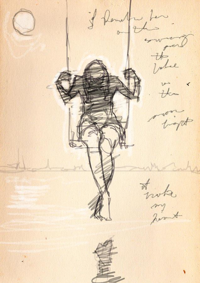 Deep In August Drawing by H James Hoff