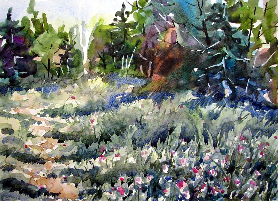 Watercolor Painting - Deep In Clover by Chito Gonzaga