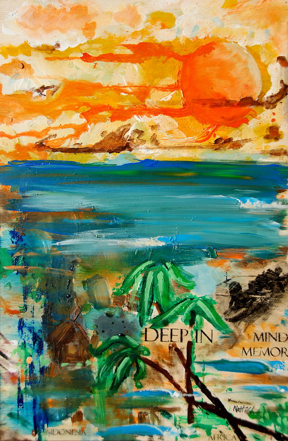 Sunset Painting - Deep In Mind Memory by Nathan Paul Gibbs