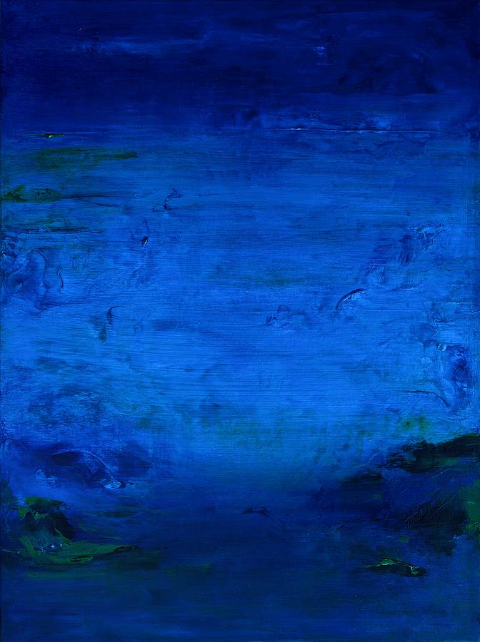 Blue Mixed Media - Deep In The Night by Helen Lunt