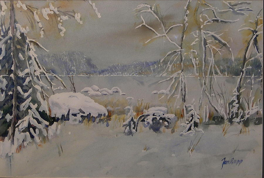 Snow Painting - Deep In Winter by Jan Rapp