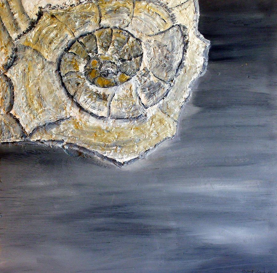 Still Life Paintings Painting - Deep Ocean Seashell by Leslye Miller