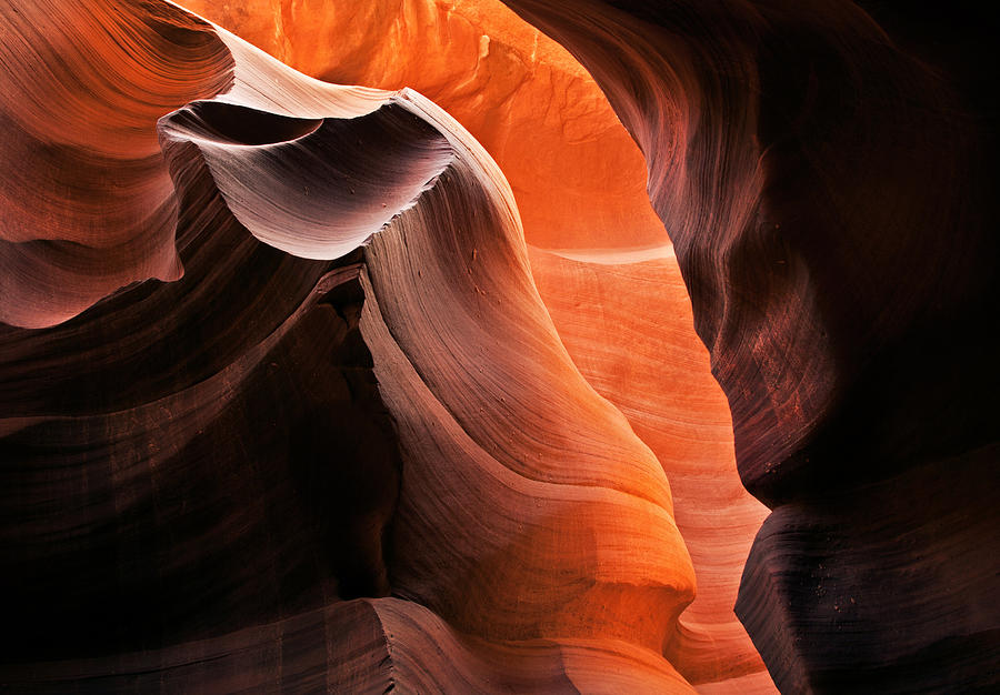 Antelope Canyon Photograph - Deep Red Glow by Mike  Dawson