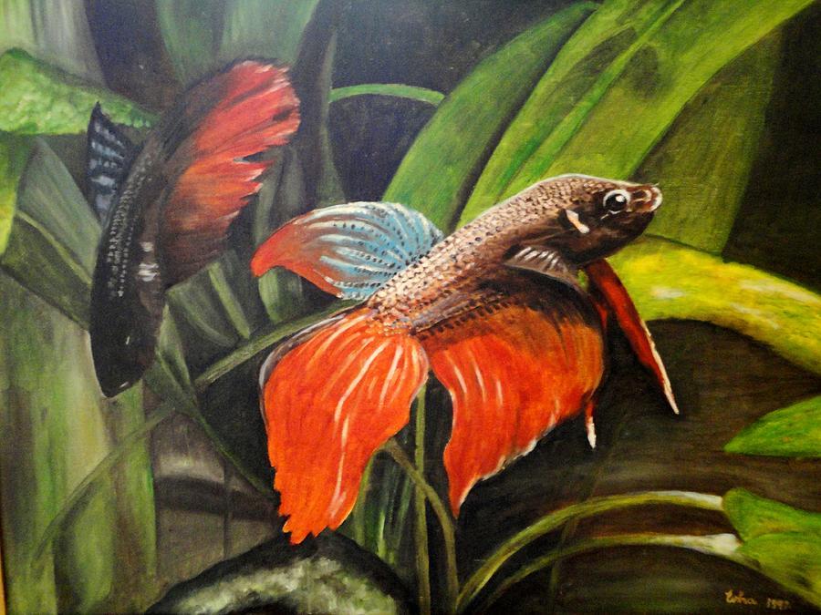 Fish Painting - Deep Sea Fish by Usha Shantharam