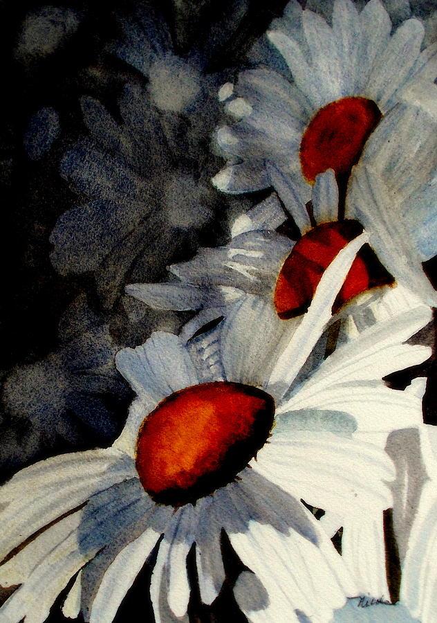 Daisy Painting - Deep Shadows by Nicole Curreri