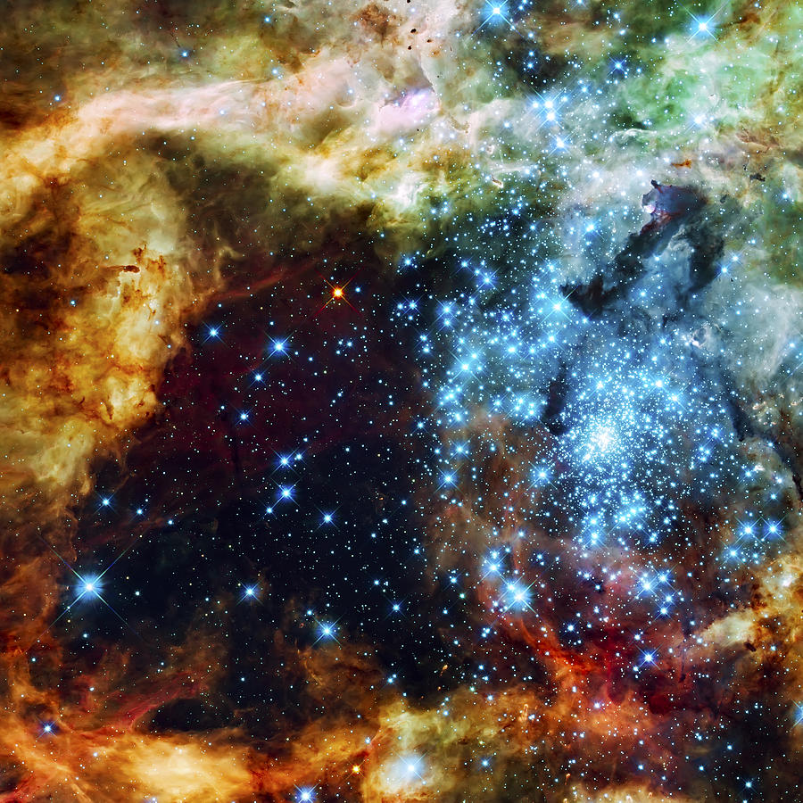 Nebula Photograph - Deep Space Fire And Ice 2 by Jennifer Rondinelli Reilly - Fine Art Photography