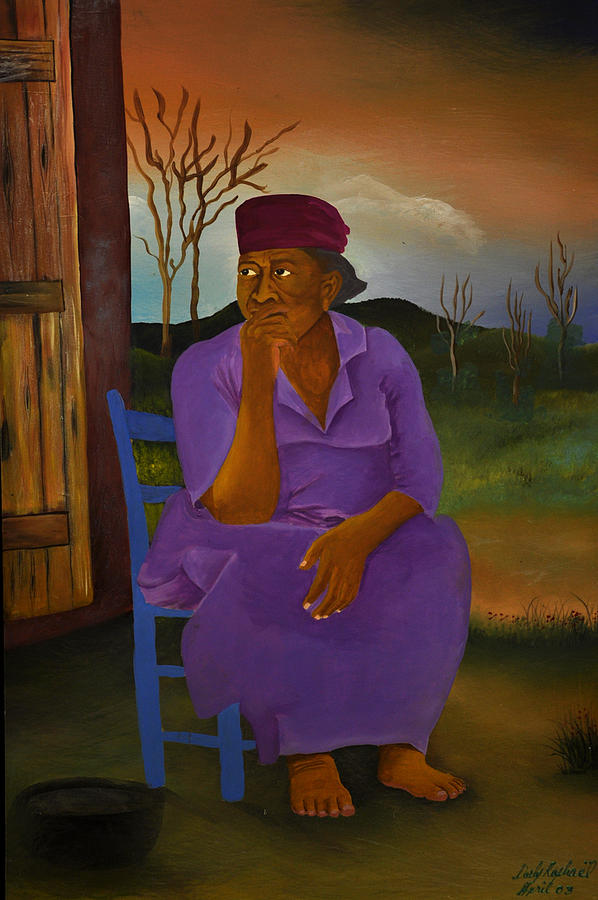 Realist Painting - Deep Thinking by Darly Raphael