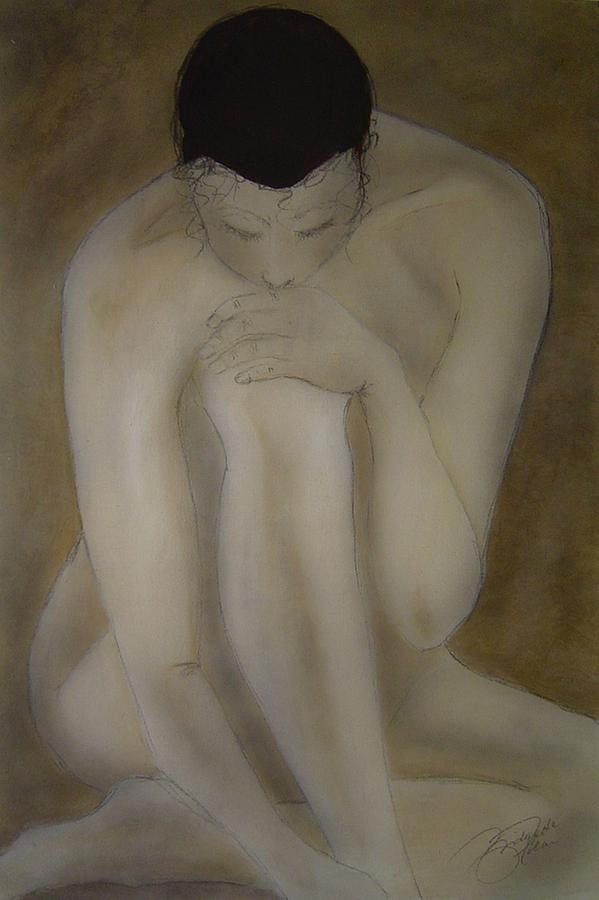 Nude Painting - Deep Thought by Bridgette  Allan