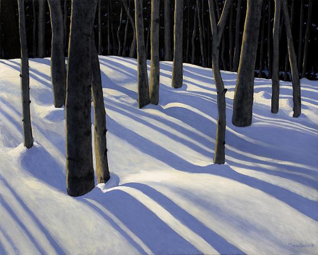 Woods Painting - Deep Winter by Murad Sayen