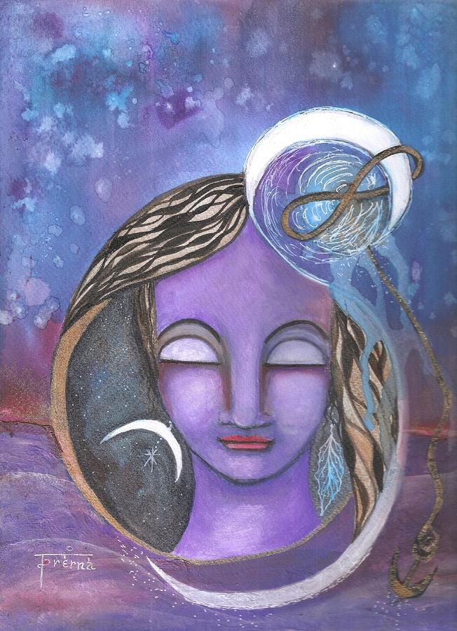 Art On Paper Mixed Media - Deep Within by Prerna Poojara
