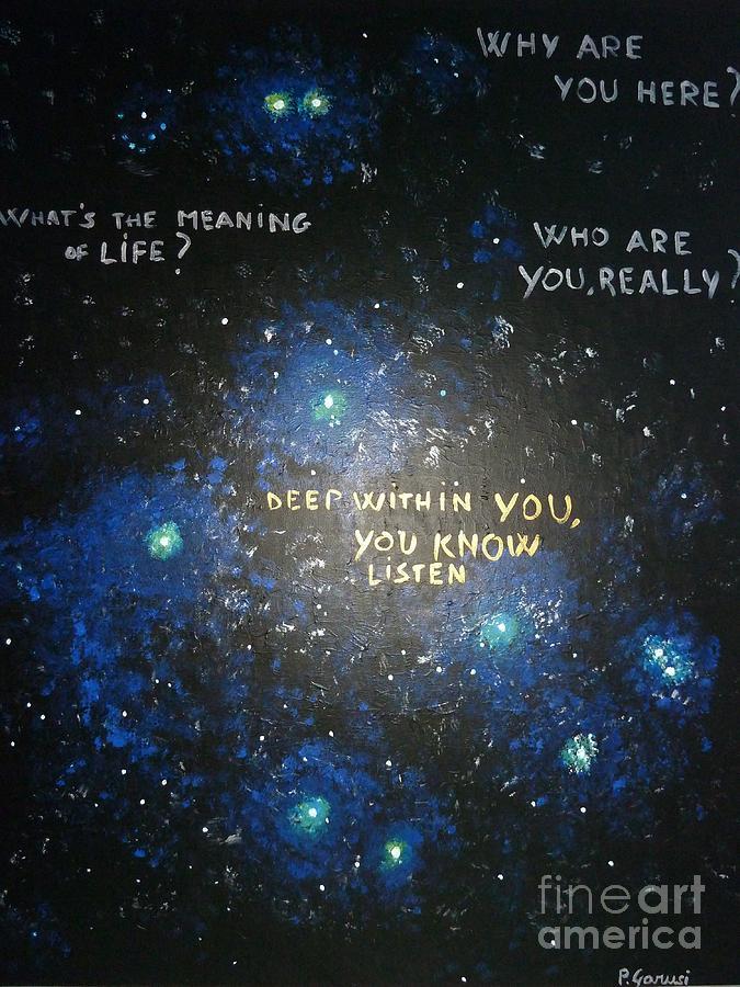 Spiritual Painting - Deep Within You by Piercarla Garusi