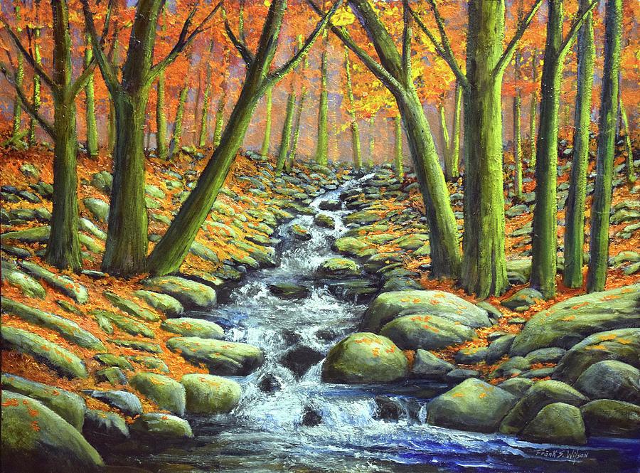 Deep Woods Brook Painting