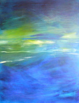 Caribbean Paintings Painting - Deeper And Deeper by Mary Sullivan