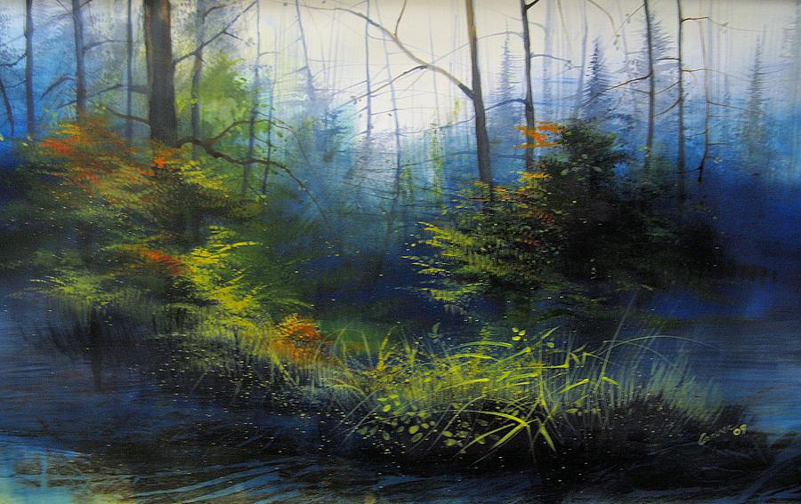 Landscape Painting - Deepwoods by Robert Carver