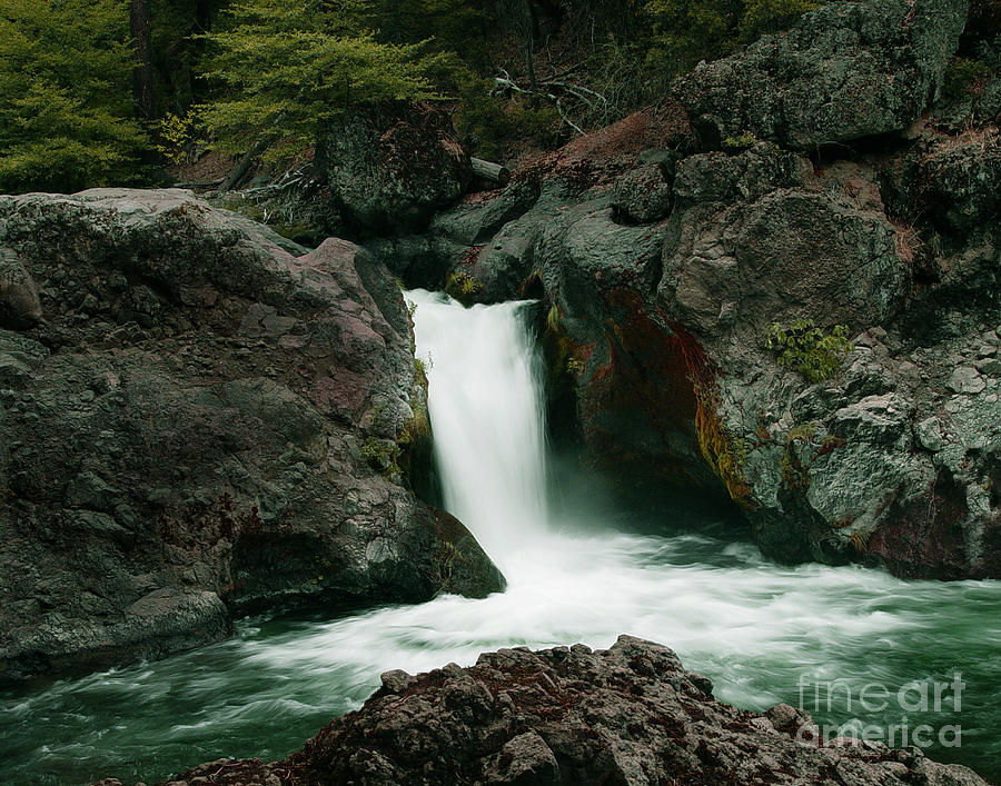 Creek Photograph - Deer Creek Falls by Peter Piatt