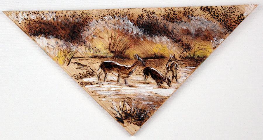 Deer Painting - Deer Crossing Two by Richard Jules
