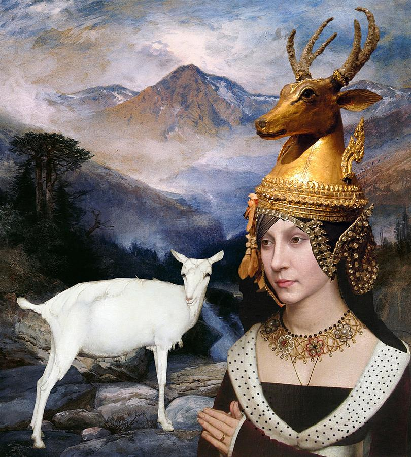 Women Digital Art - Deer Medicine Woman by Laura Botsford