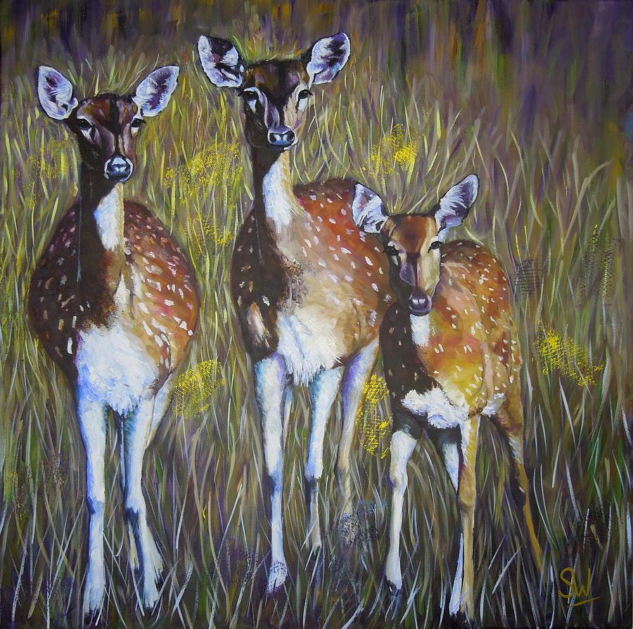 Deer on guard by Shirley Wellstead