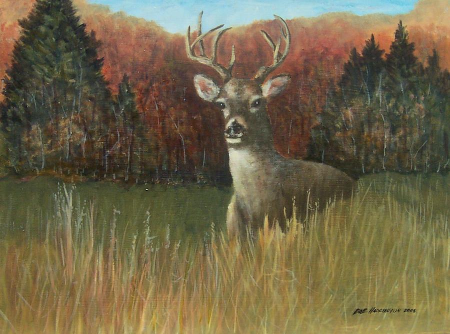 Deer Season Painting - Deer Season by Robert Harrington