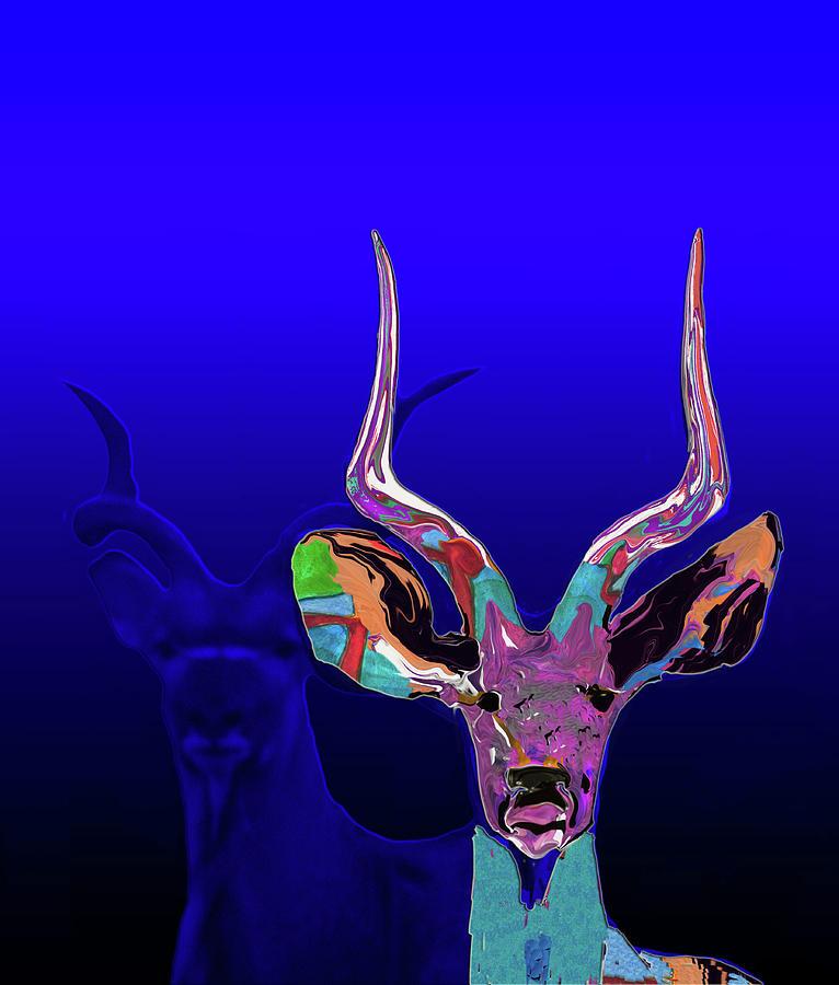 Deer Painting - Deer1 by Martin Hardy
