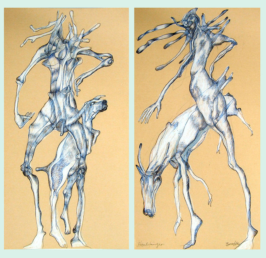 Figures Drawing - Deercatcher by Wolfgang - bookwood - Buchholz