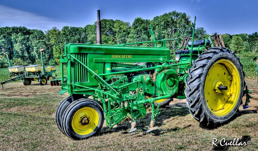 John Deere Photograph - Deere Old Tractor by Rod Cuellar