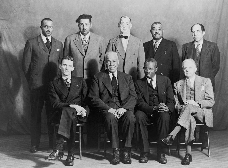 History Photograph - Defendants And Naacp Counsel by Everett