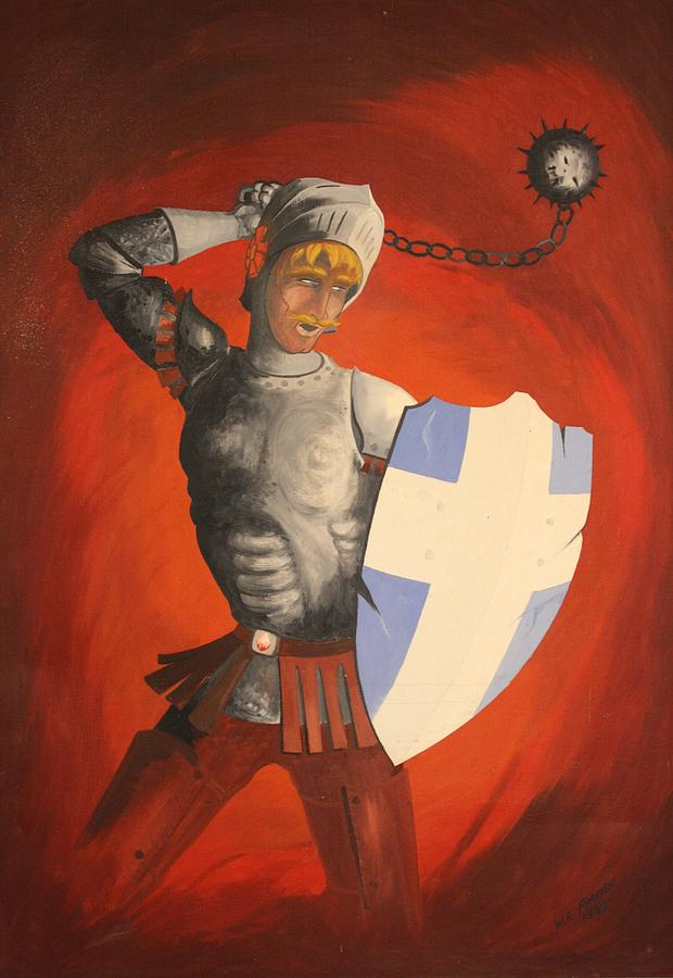 Knight Painting - Defender by Frank Parrish