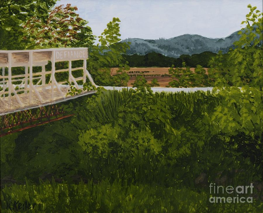 Farmland Painting - Defiance Junction - Katy Trail by Kathleen Keller