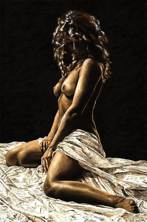 Nude Painting - Defiance by Richard Young