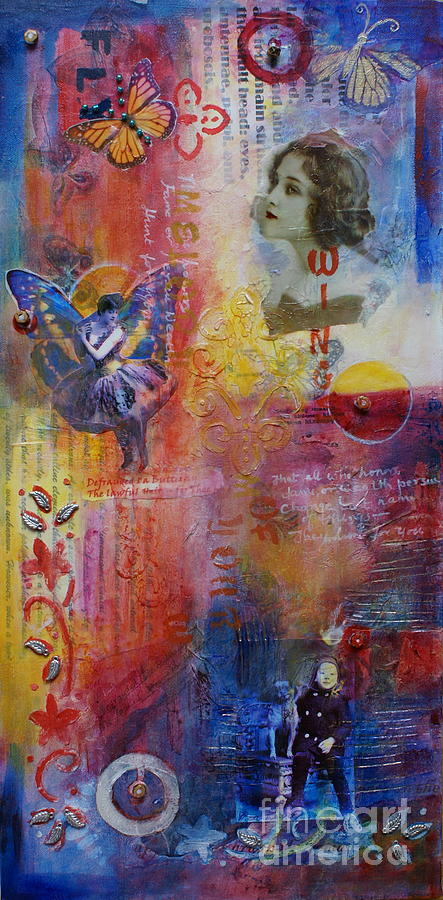 Collage Mixed Media - Defrauded I A Butterfly by Ishita Bandyo