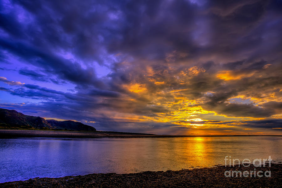 Sunset Photograph - Deganwy Sunset by Adrian Evans