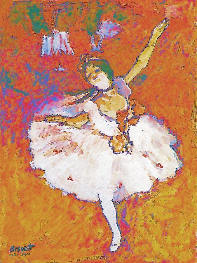 Ballerina Painting - Degas Dancer by Robert Bissett