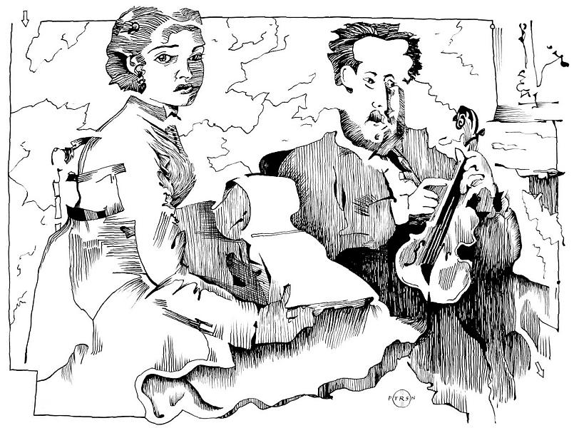 Music Teacher Drawing - Degas Violin Teacher And Young Woman by Gary Peterson