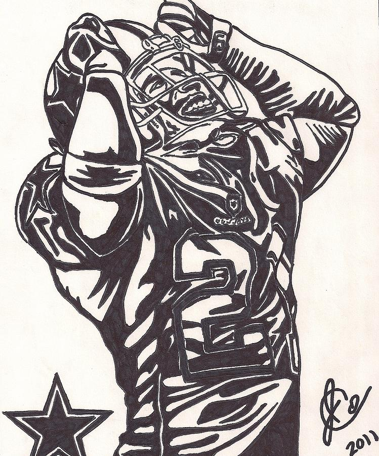 Deion Sanders Drawing by Jeremiah Colley