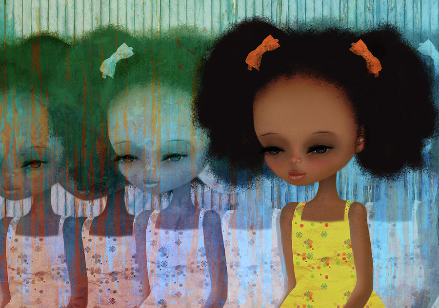 Little Girl Digital Art - Deja-Vu by Jessica Von Braun
