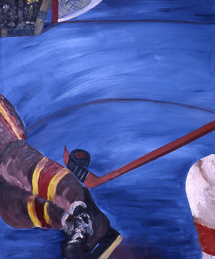 Hockey Painting - Deke by Ken Yackel