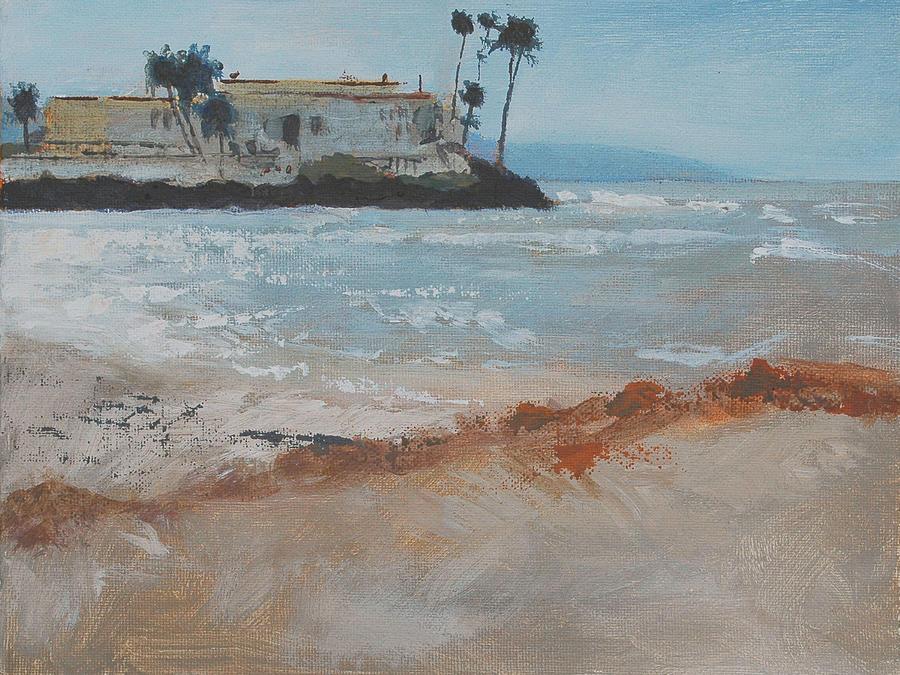 Del Painting - Del Mar Beach by Robert Bissett