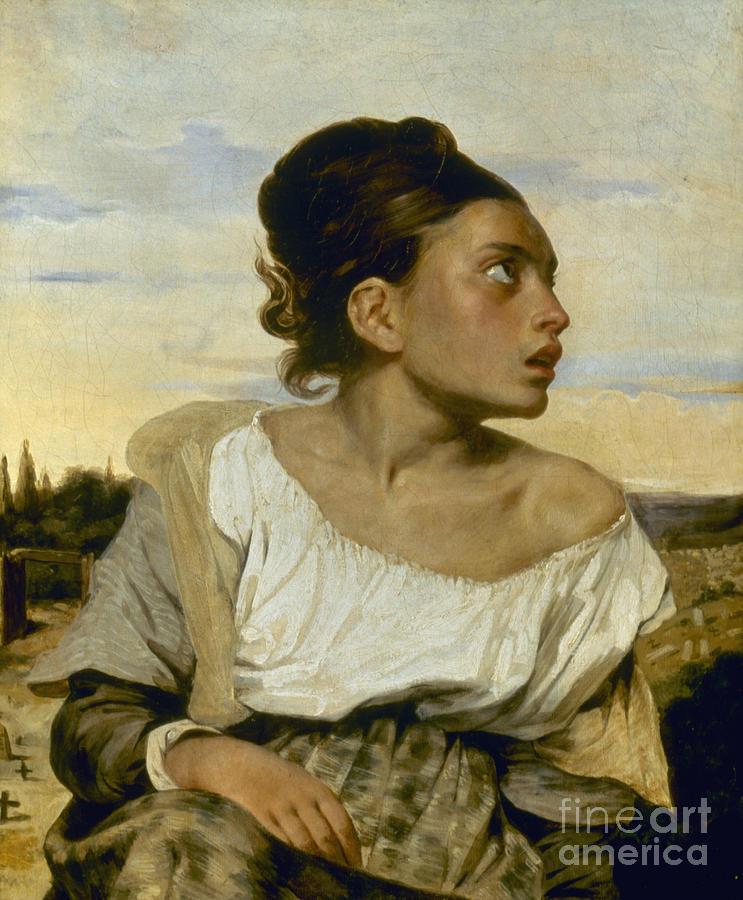 1824 Photograph - Delacroix: Orphan, 1824 by Granger